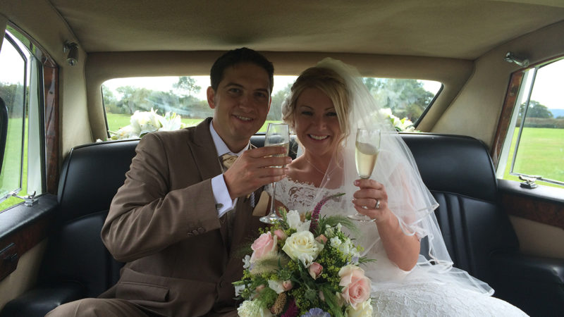 Daimler DS420 Limousine wedding car for hire in Eastbourne, East Sussex