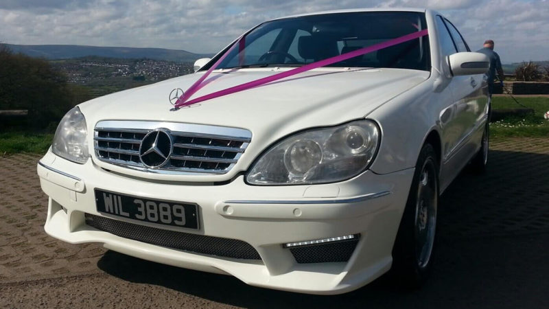 Mercedes S600 AMG wedding car for hire in Newport, South Wales