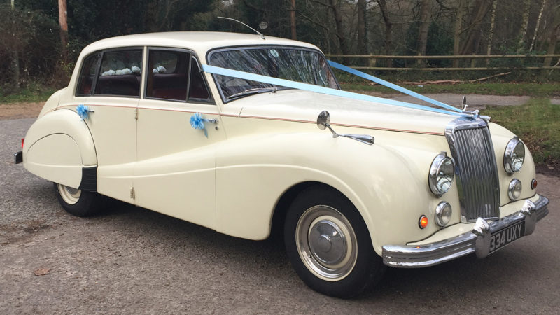Armstrong-Siddeley Sapphire wedding car for hire in Hayling Island, Hampshire