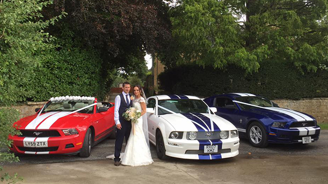 Ford Mustang 5.0L V8 wedding car for hire in Cardigan, Ceredigion