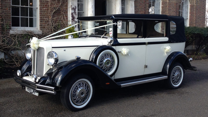 Brenchley Landaulette wedding car for hire in Eastbourne, East Sussex