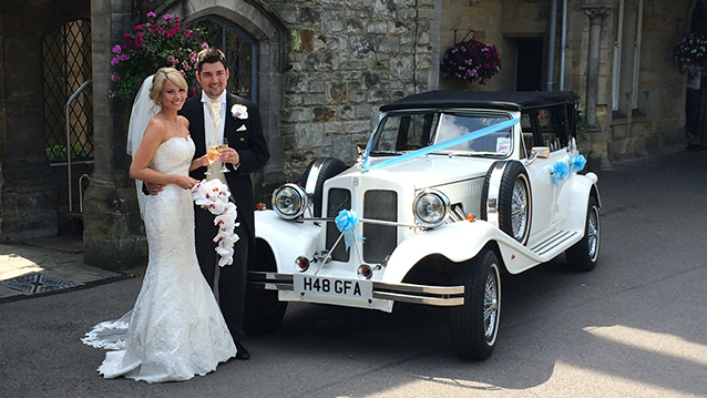 Beauford 4 Door Convertible wedding car for hire in Eastbourne, East Sussex