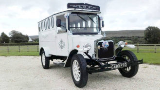 Fleur De Lys Bus wedding car for hire in Kidderminster, West Midlands