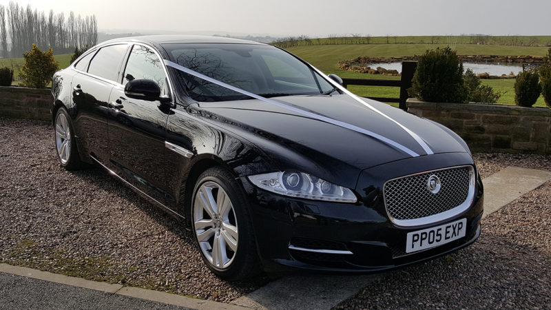 Jaguar XJ LWB wedding car for hire in Bedale, North Yorkshire