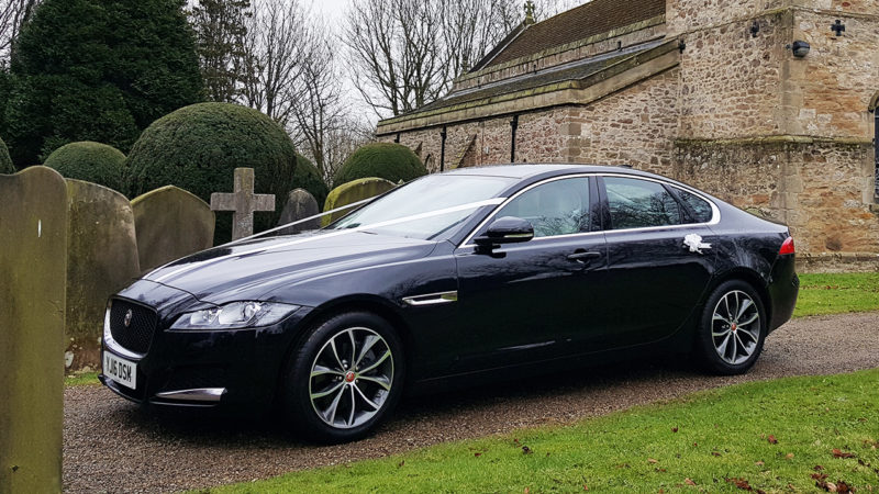 Jaguar XF wedding car for hire in Bedale, North Yorkshire