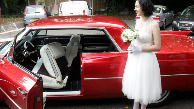Cadillac Coupe De Ville wedding car for hire in Hornchurch, Essex