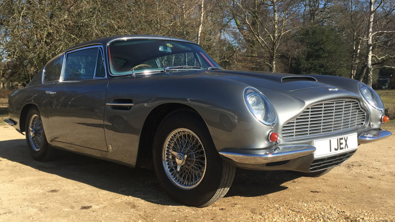 Aston Martin DB6 wedding car for hire in Cadnam, Hampshire