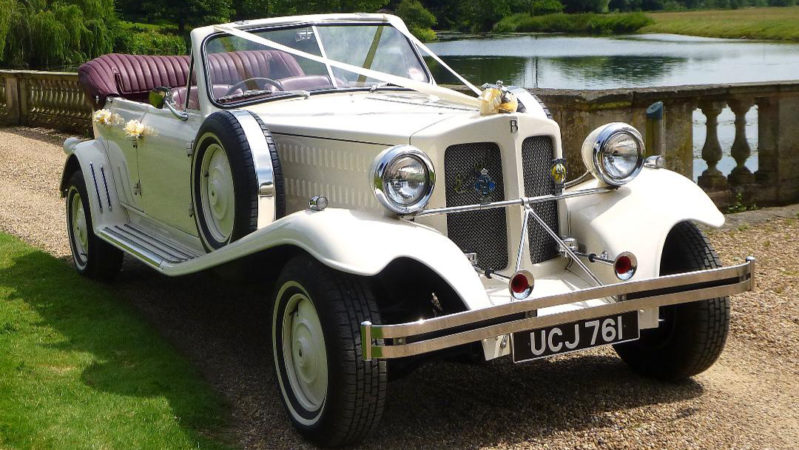 Beauford Convertible wedding car for hire in Hatfield, Hertfordshire