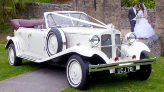 Beauford Convertible wedding car for hire in Barnett, London