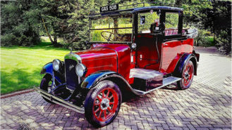 Austin Taxi Landaulette wedding car for hire in Richmond, West London