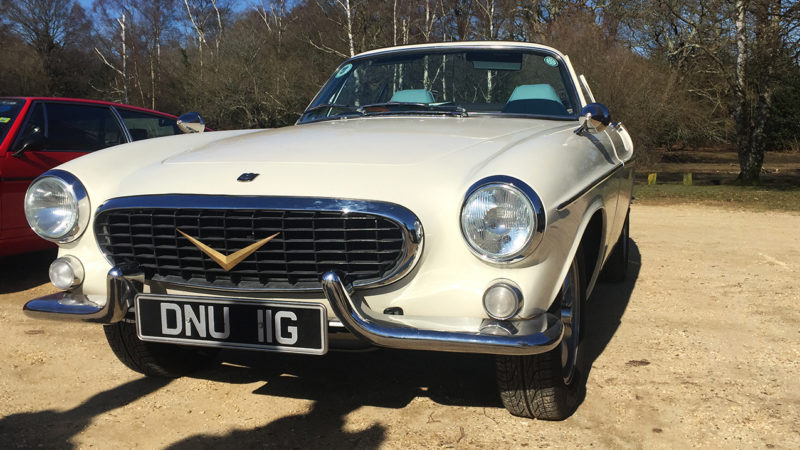 Volvo P1800 Convertible wedding car for hire in Cadnam, Hampshire