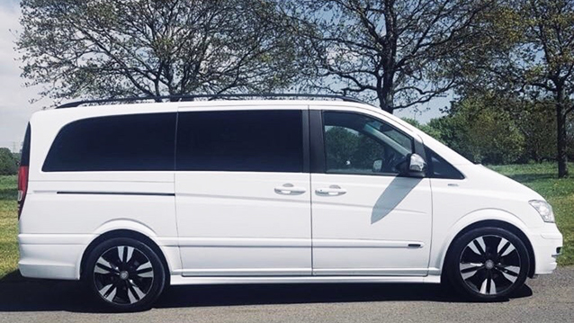 Mercedes Viano wedding car for hire in West London