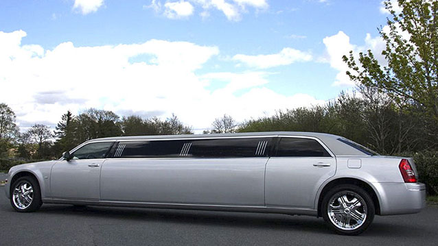 Chrysler 300c Stretched Limousine wedding car for hire in Ayr, Ayrshire