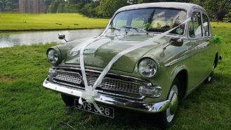 Hillman Minx wedding car for hire in Reading, Berkshire