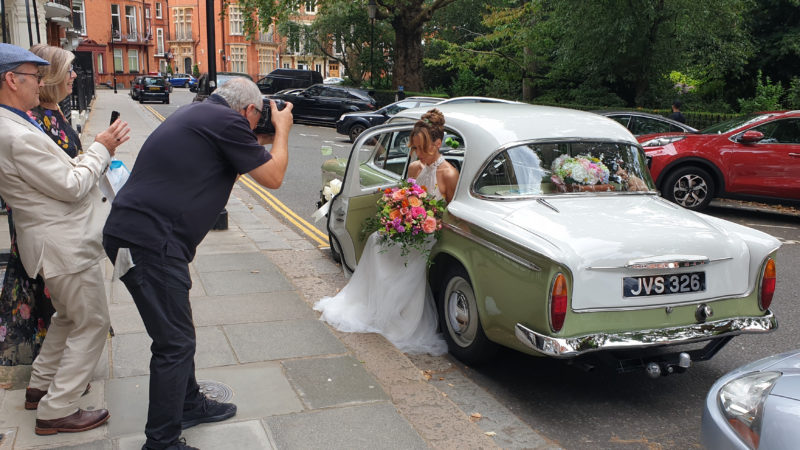 Hillman Minx wedding car for hire in Reading, Berkshire