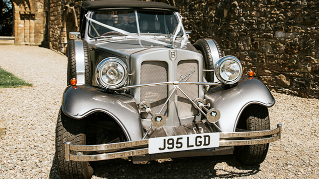 Beauford Convertible wedding car for hire in Ayr, Ayrshire