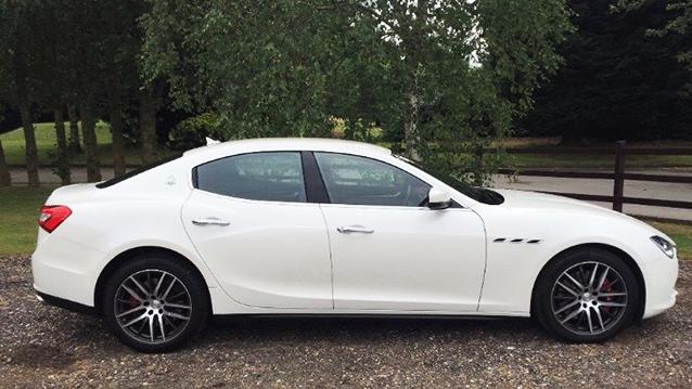 Maserati Ghibli wedding car for hire in West London