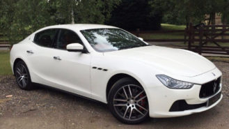 Maserati Ghibli wedding car for hire in West London