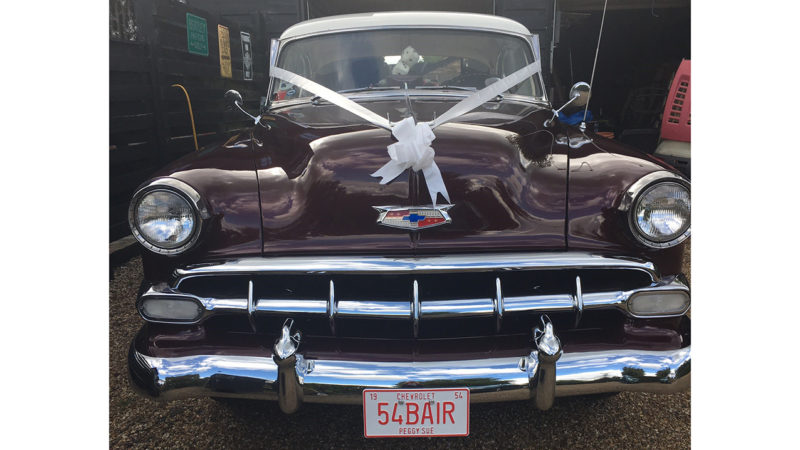 Chevrolet Bel Air Sport Coupé wedding car for hire in Cheshunt, Hertfordshire