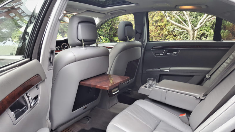 Mercedes 'S' Class V8 S500 LWB wedding car for hire in Bournemouth, Dorset