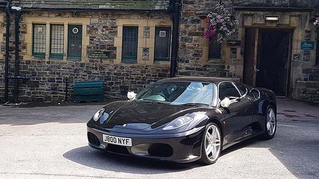 Ferrari F430 wedding car for hire in Leeds, West Yorkshire