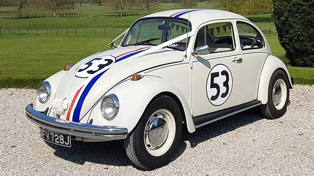"Classic VW Beetle ""Herbie"" Wedding Car Hire"