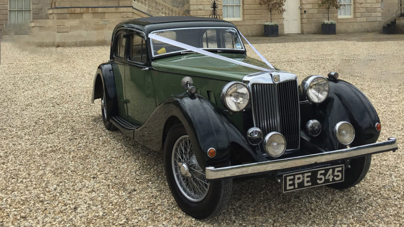 MG SA wedding car for hire in Bicester, Oxfordshire