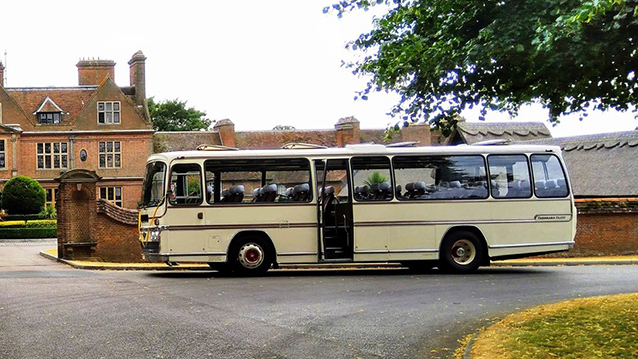 AEC Reliance Coach wedding car for hire in Oxted, Surrey