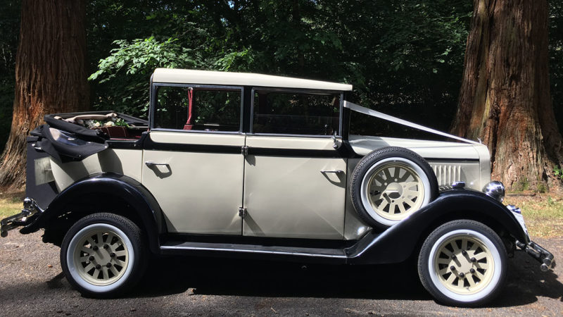Regent Landaulette wedding car for hire in Burgess Hill, West Sussex