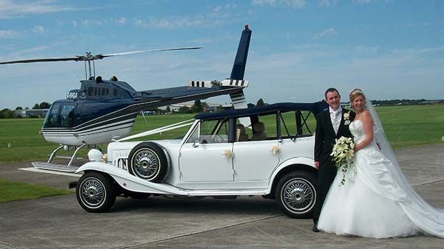 Beauford 4 Door Convertible wedding car for hire in Bournemouth, Dorset