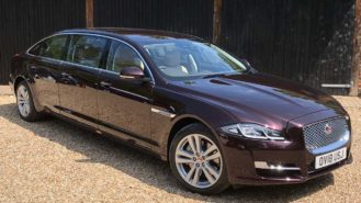 Jaguar XJ Stretched Limousine wedding car for hire in Lewes, East Sussex