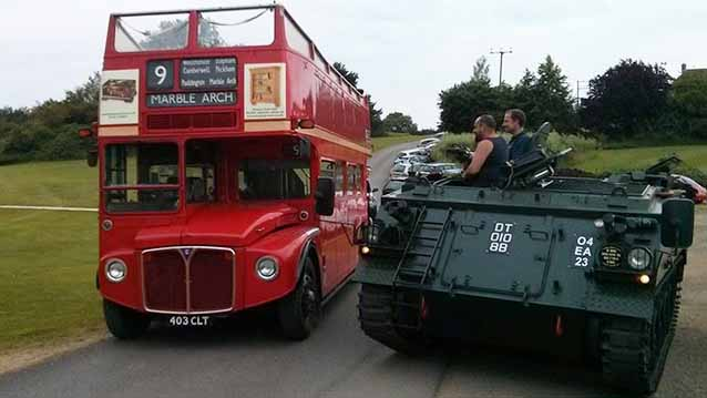 Routemaster Open Top London Bus wedding car for hire in Northampton, Northamptonshire