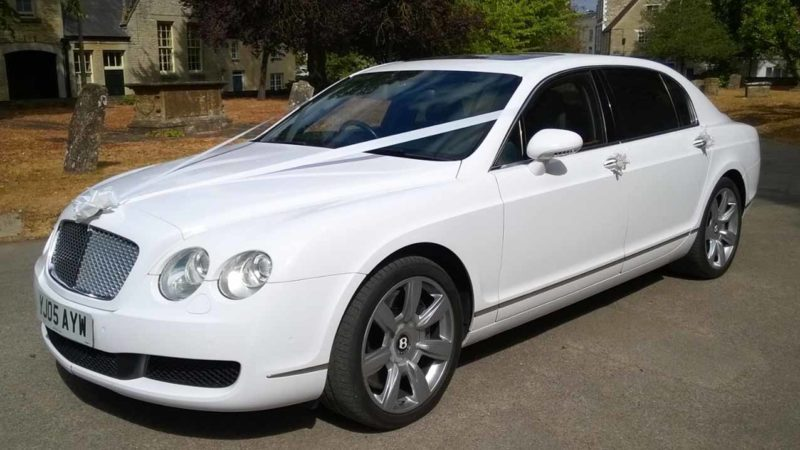 Bentley Continental Flying Spur wedding car for hire in Winslow, Buckinghamshire
