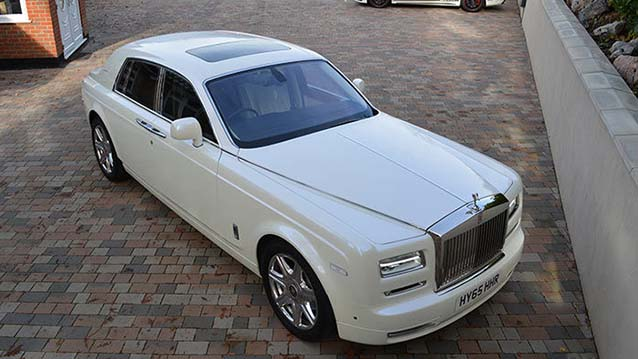 Rolls-Royce Phantom Series II wedding car for hire in London