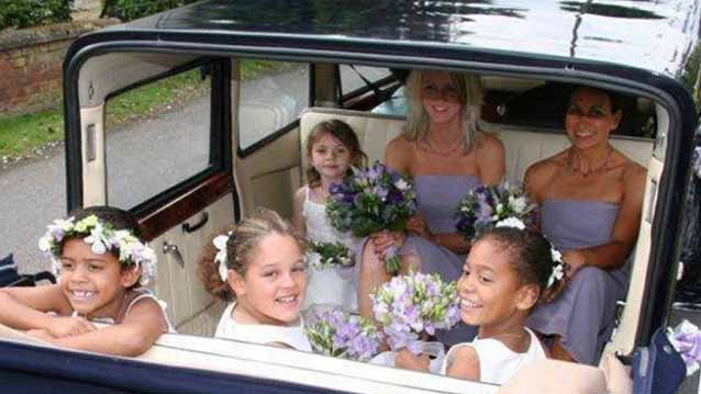 Bramwith Landaulette wedding car for hire in Chesterfield, Derbyshire