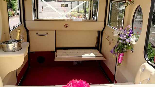Imperial Viscount Landaulette wedding car for hire in Chesterfield. Derbyshire