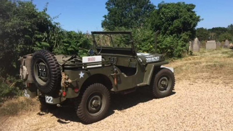 Willy's Jeep wedding car for hire in King's Lynn, Norfolk