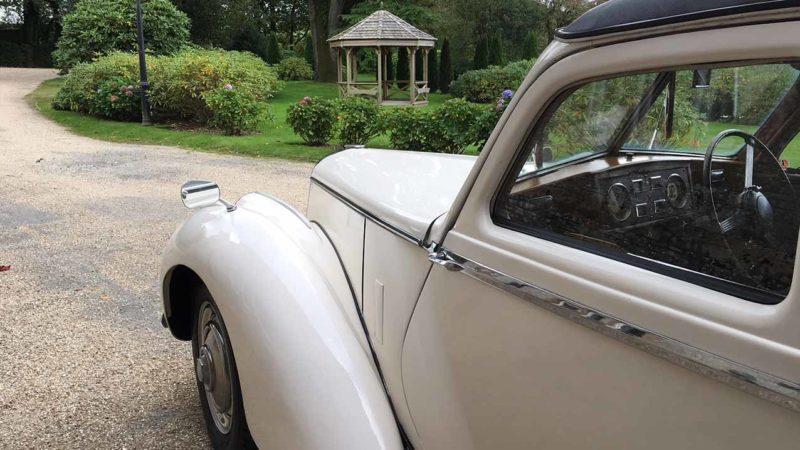 Riley RME wedding car for hire in Barnstaple, Devon