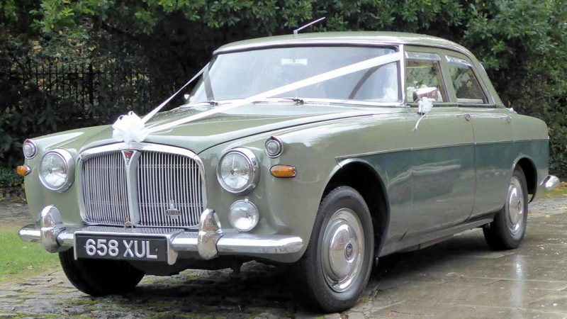 Rover 3.5 Saloon MK I wedding car for hire in Waterlooville, Hampshire