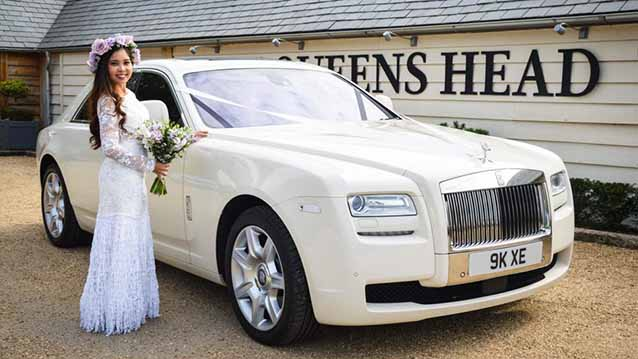 Rolls-Royce Ghost wedding car for hire in Birmingham , West Midlands
