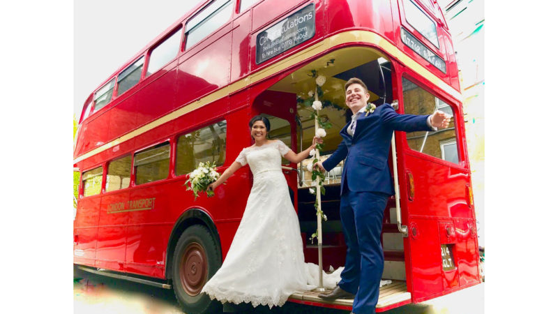 London Routemaster Bus wedding car for hire in Maidstone, Kent