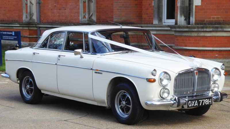 Rover P5B Coupe 3.5 V8 wedding car for hire in Waterlooville, Hampshire