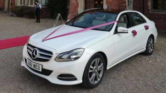 Mercedes 'E' Class wedding car for hire in Chesterfield, Derbyshire