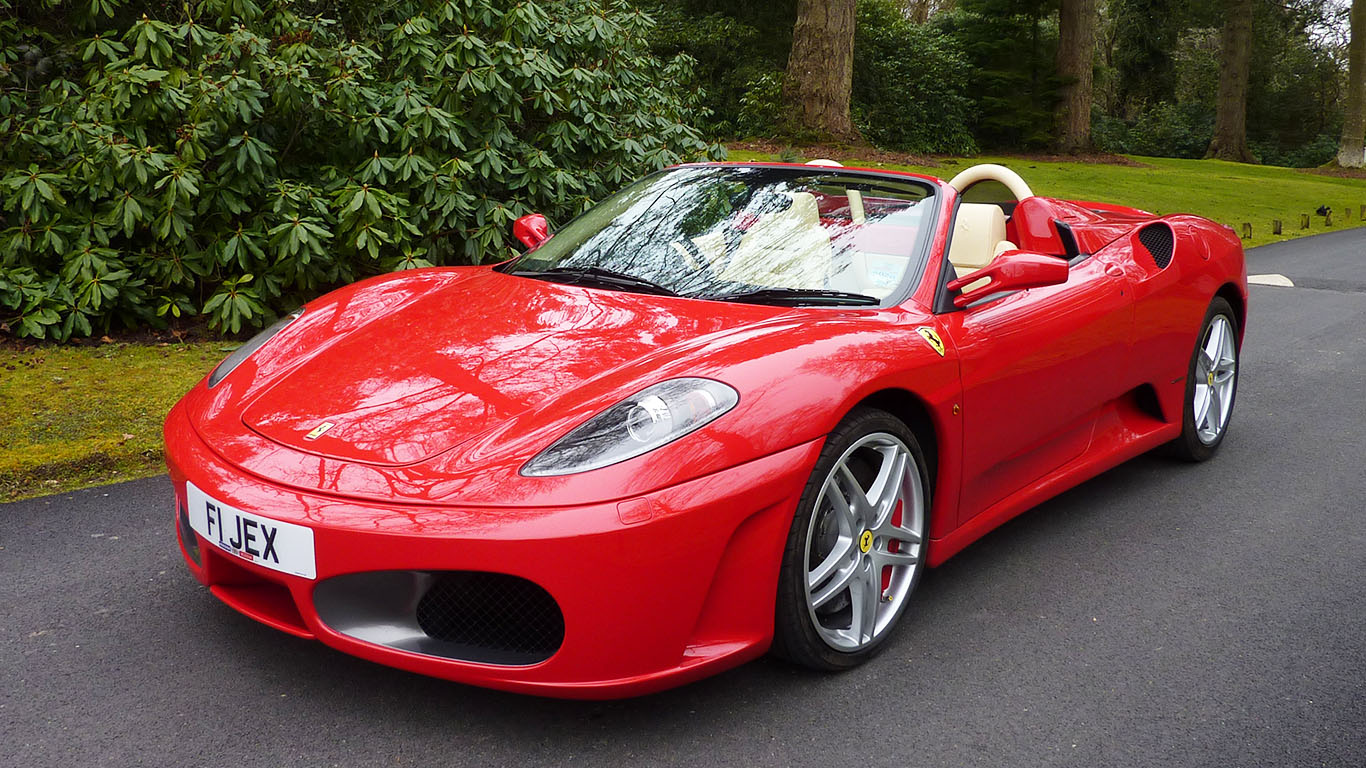 Ferrari Spider Grooms Super Car hire for Weddings