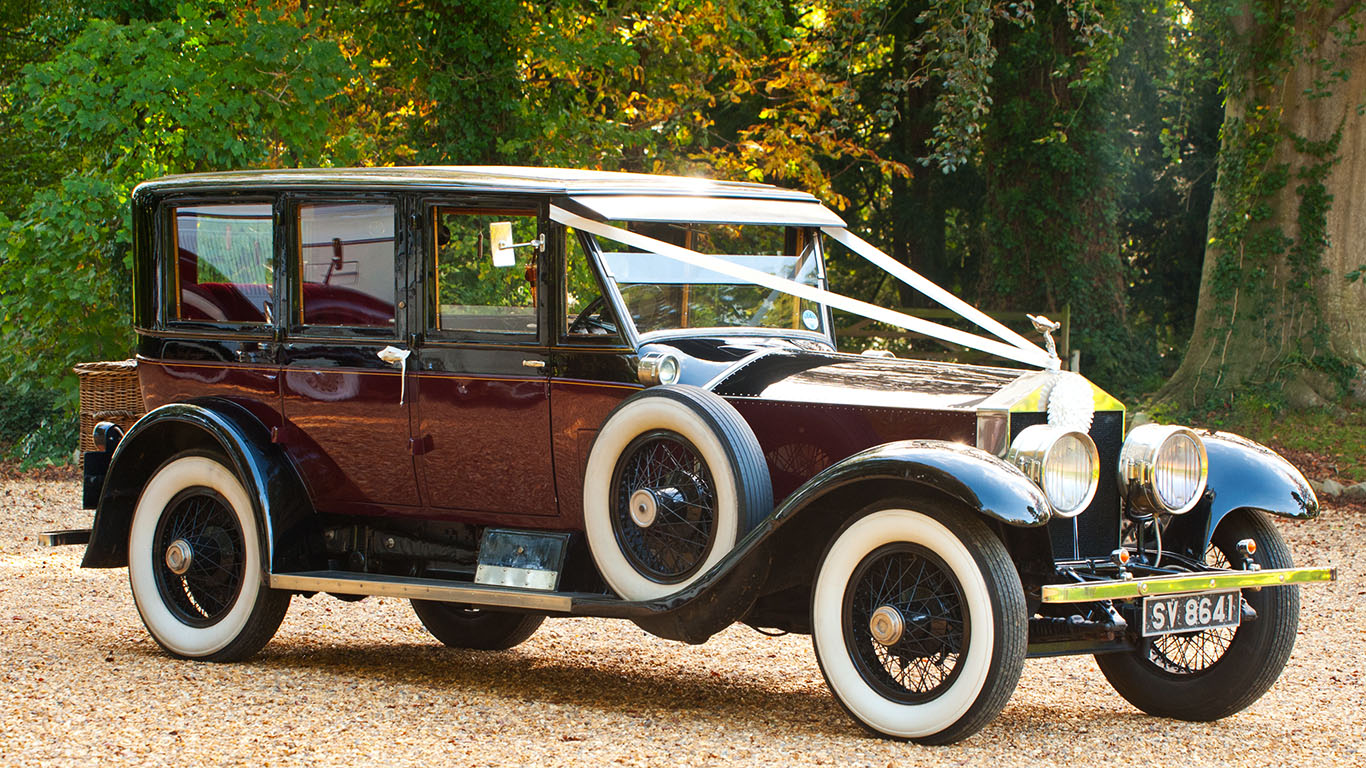 Vintage Rolls-Royse Wedding Car from the 1930's - also featured in Downton Abbey, TV series