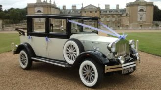 Imperial Viscount Landaulette wedding car for hire in Witney, Oxfordshire