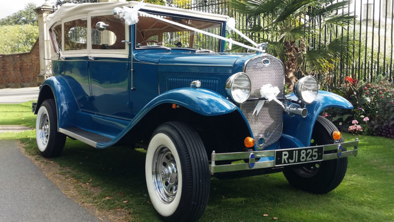 Ryecroft Open Tourer wedding car for hire in Kettering, Northamptonshire