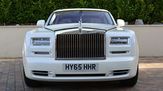 White Rolls-Royce Phantom Wedding Car hire London