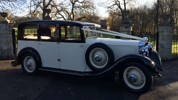 Daimler Straight Eight Limousine wedding car for hire in Doncaster, South Yorkshire