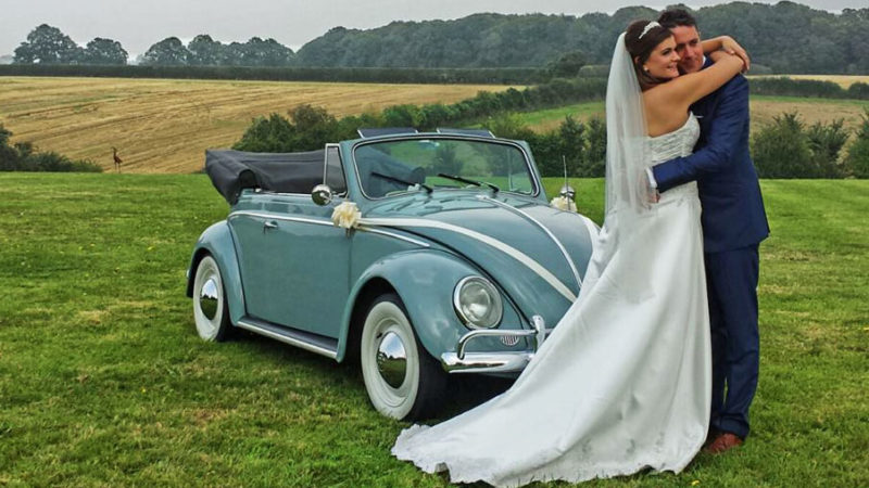 Volkswagen Beetle Karmann Convertible wedding car for hire in Bracknell, Berkshire